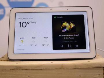 Chytry displej google home hub recenze spotify home
