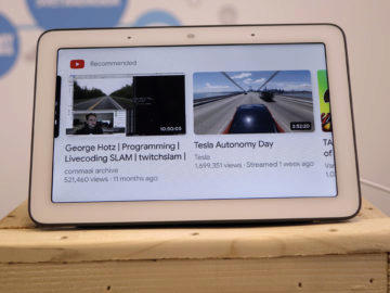 Chytry displej google home hub recenze youtube menu