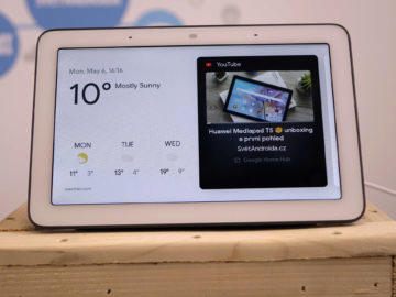 Chytry displej google home hub recenze youtube video menu