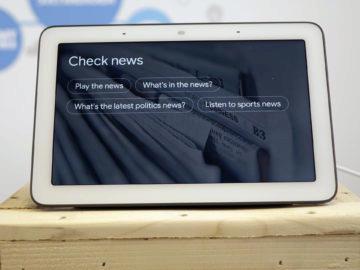 Chytry displej google home hub recenze zpravy