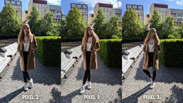 Fofotest Google Pixel 3a vs Google Pixel 3 vs Google Pixel 2 fotomobil modelka
