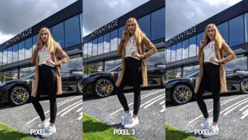 Fofotest Google Pixel 3a vs Google Pixel 3 vs Google Pixel 2 modelka ferrari