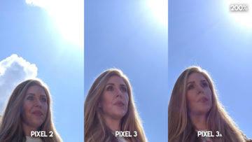 Fofotest Google Pixel 3a vs Google Pixel 3 vs Google Pixel 2 modelka v parku detail