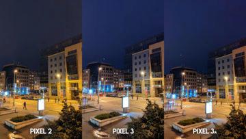 Fofotest Google Pixel 3a vs Google Pixel 3 vs Google Pixel 2 noční ulice