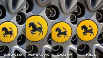 Fototest S10 vs P30 Pro vs Mi 9 vs Pixel 3A ferrari