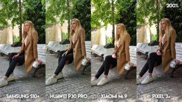 Fototest S10 vs P30 Pro vs Mi 9 vs Pixel 3A fotografie modelka