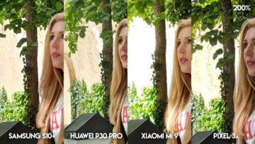 Fototest S10 vs P30 Pro vs Mi 9 vs Pixel 3A fotografie modelka detail