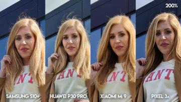 Fototest S10 vs P30 Pro vs Mi 9 vs Pixel 3A modelka detail
