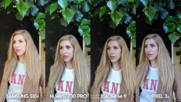 Fototest S10 vs P30 Pro vs Mi 9 vs Pixel 3A modelka portret
