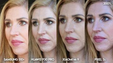 Fototest S10 vs P30 Pro vs Mi 9 vs Pixel 3A modelka portret detail