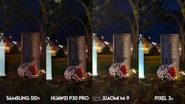 Fototest S10 vs P30 Pro vs Mi 9 vs Pixel 3A noc