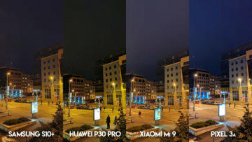 Fototest S10 vs P30 Pro vs Mi 9 vs Pixel 3A noční ulice