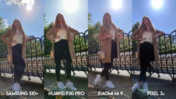 Fototest S10 vs P30 Pro vs Mi 9 vs Pixel 3A protisvětlo modelka