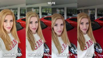 Fototest S10 vs P30 Pro vs Mi 9 vs Pixel 3A selfie