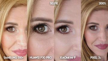 Fototest S10 vs P30 Pro vs Mi 9 vs Pixel 3A selfie detail