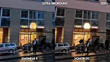 Fototest Xiaomi Mi 9 vs Honor 20 budova detail
