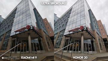 Fototest Xiaomi Mi 9 vs Honor 20 budova dpp