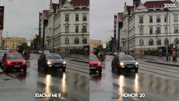 Fototest Xiaomi Mi 9 vs Honor 20 ulice detail