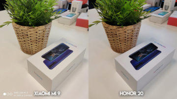 Fototest Xiaomi Mi 9 vs Honor 20 umele osvetleni