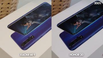 Fototest Xiaomi Mi 9 vs Honor 20 umele osvetleni detail