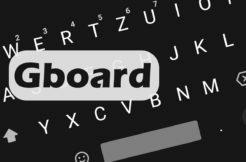 Tmavý vzhled klávesnice Gboard