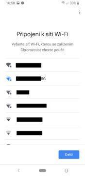 Google Chromecast 3 připojení k síti