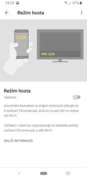 Google Chromecast 3 režim hosta