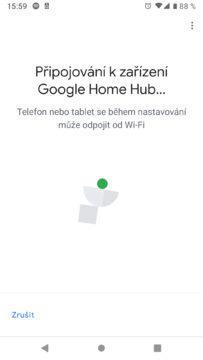 Google Home aplikace pripojovani