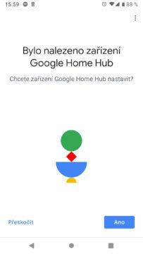 Google Home aplikace uvodni obrazovka