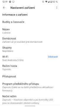 google home max aplikace nastaveni