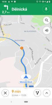 Google Mapy radary