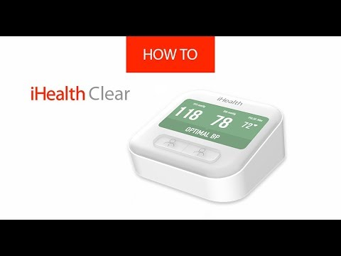 How to unpack and first use the blood pressure monitor iHealth Clear