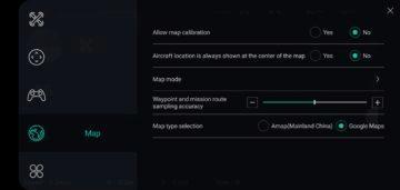 Hubsan Zino aplikace X-Hubsan nastaveni mapy