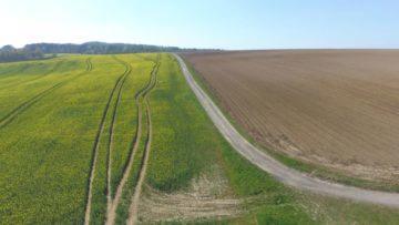 Hubsan Zino fotografie z dronu pole