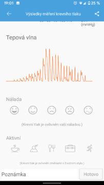 iHealth aplikace tepová vlna