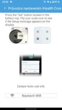 ihealth core parovani s telefonem nastavení wifi