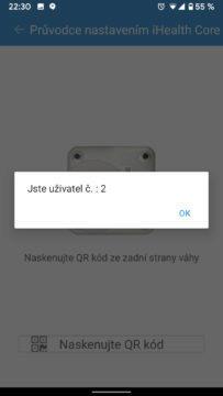 ihealth core parovani s telefonem výběr uživatele