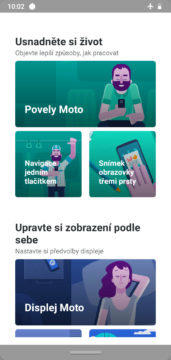 Moto G7 Power system Android displej moto