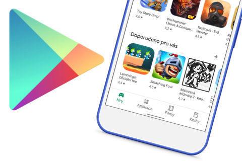 novy design google play obchod