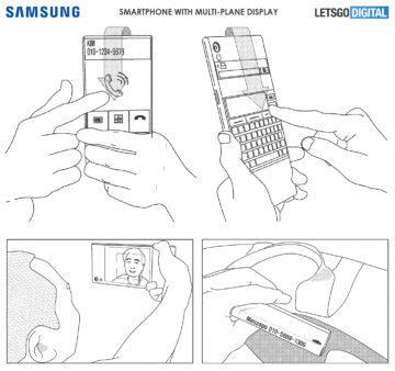 samsung displej na zadni strane patent