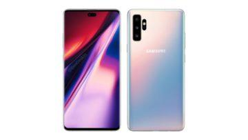 samsung galaxy note 10e design telefonu