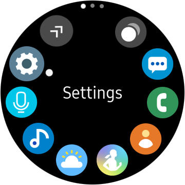 Samsung One UI menu