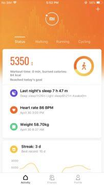 splikace mi fit xiaomi redesign