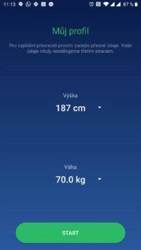 Výška a váha