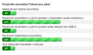 Výsledky ankety Používáte sluchátka?