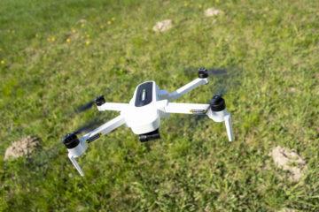 vzletnuti s dronem Hubsan Zino