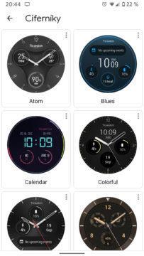 Wear OS aplikace ciferníky