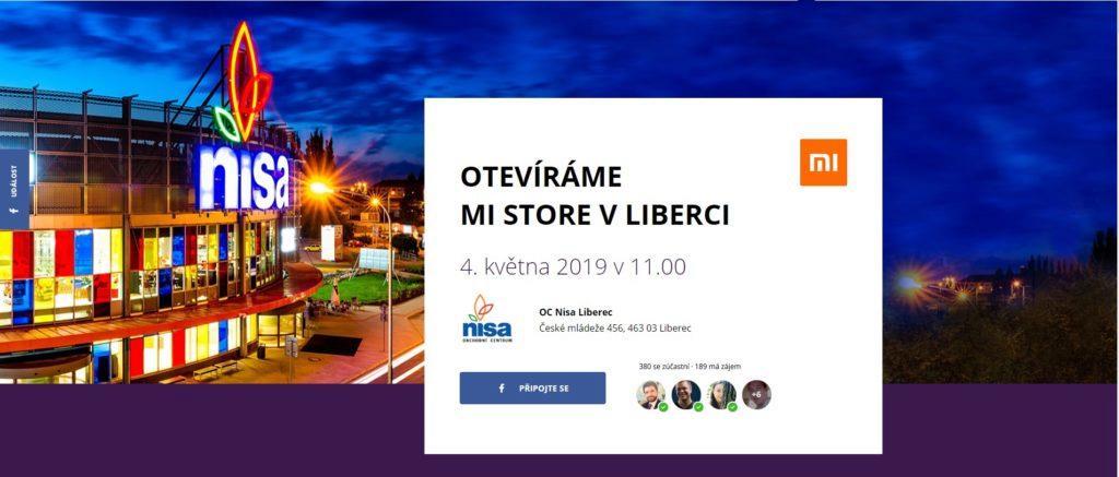 Xiaomi Mi Store Liberec pozvanka