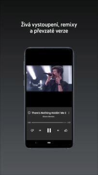 Poslech písniček z mobilu