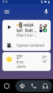 Android Auto - hlasové odpovídání na zprávy